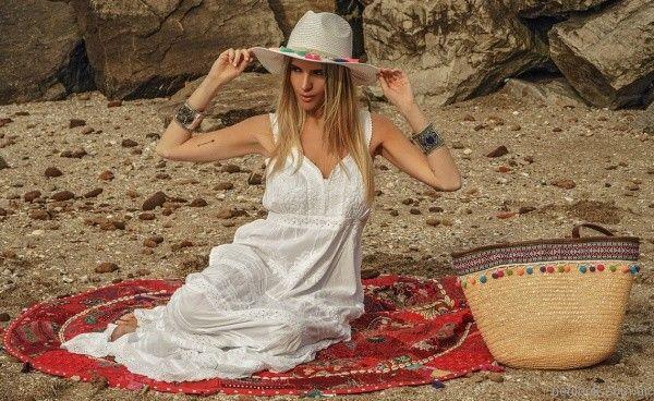 vestido blanco con broderie verano 2018 - Vars moda