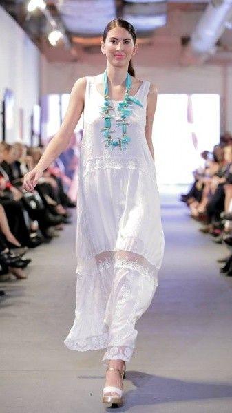 vestido blanco para el dia para señoras Adriana Costantini verano 2018