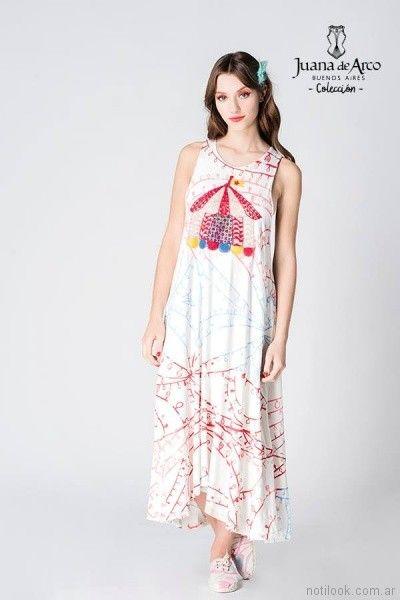 vestido largo informal verano 2018 - juana de arco
