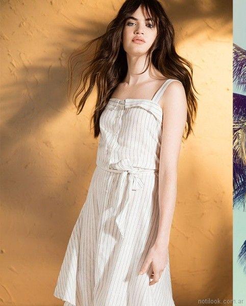 vestidos de lino para el dia Ted bodin verano 2018