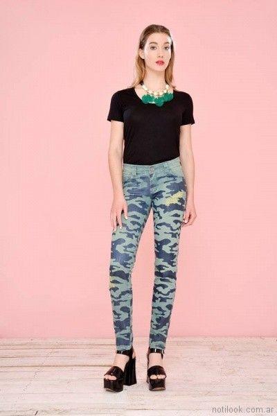 Mov jeans chupin camuflado primavera verano 2018