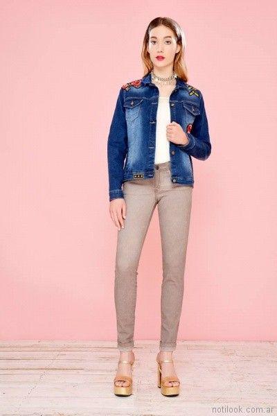 Mov jeans chupin colores primavera verano 2018