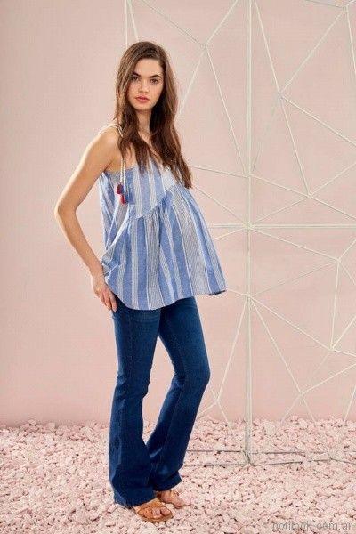 blusa a rayas para embarazadas Venga Madre primavera verano 2018