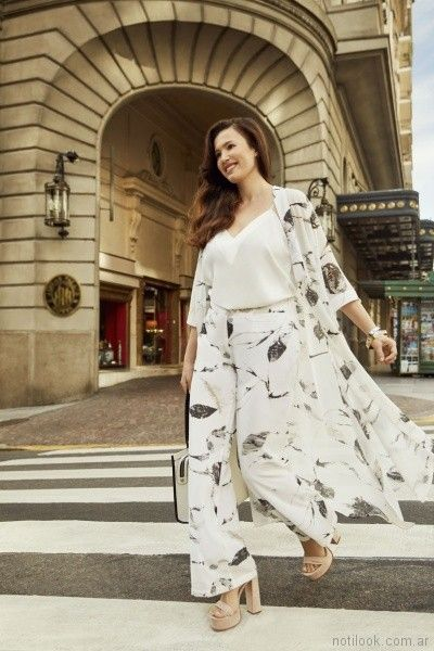 blusa blanca escote en v Mamy Blue primavera verano 2018