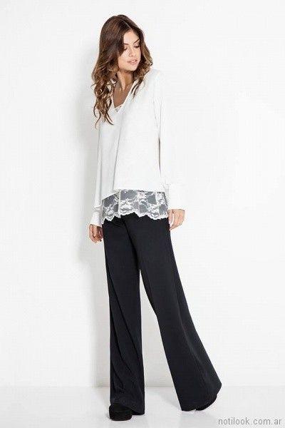 blusa con terminacion en microtul bordado Activity Pret a Porter primavera verano 2018