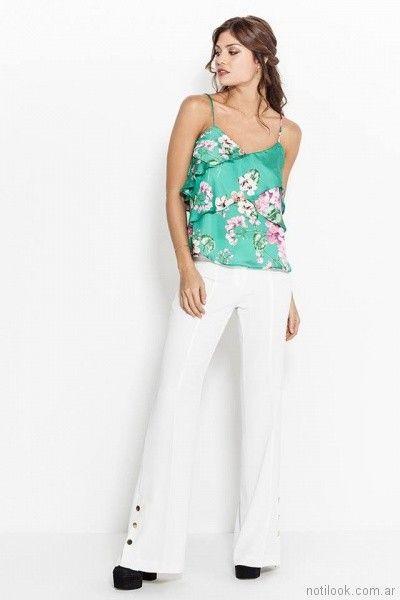 blusa de seda estampada Activity Pret a Porter primavera verano 2018