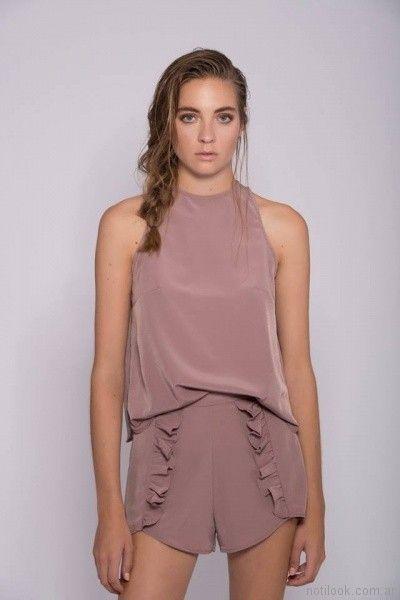 blusa de seda musculosa Mancini primavera verano 2018