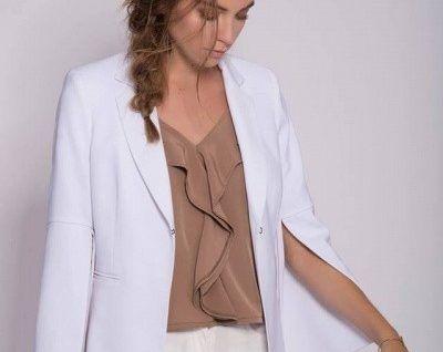 blusa musulosa escote en v con volado Mancini primavera verano 2018