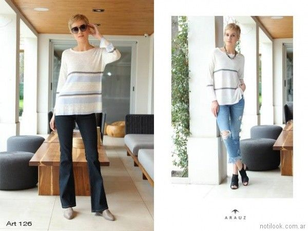 buzos de hilo mujer Arauz Sweaters tejidos primavera verano 2018