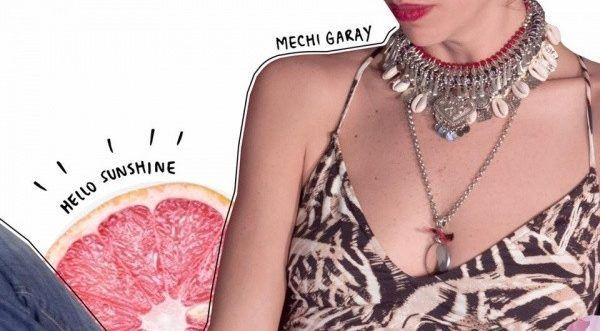 cadena con colgante y collar corto Mechi Garay primavera verano 2018