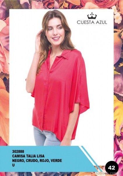 camisa mangas cortas de seda mujer