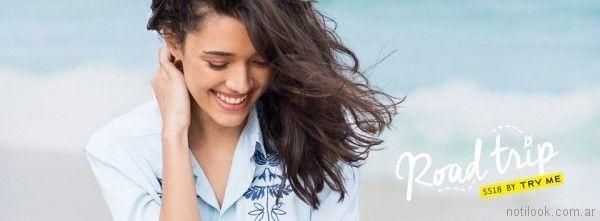 camisas bordadas con hilos Try me primavera verano 2018
