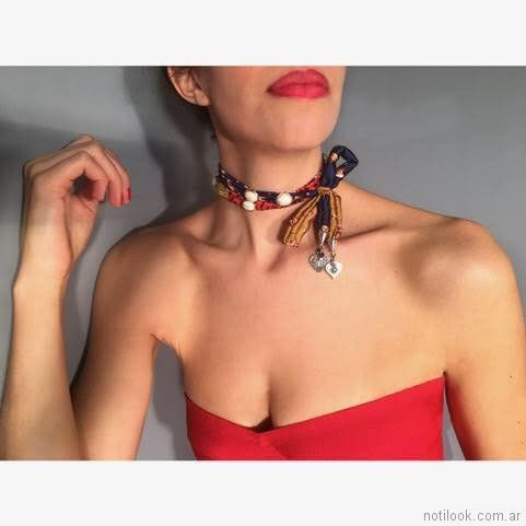 collar multifuncion Mechi Garay primavera verano 2018