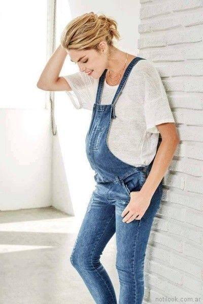 jardinero jeans para embarazadas Venga Madre primavera verano 2018