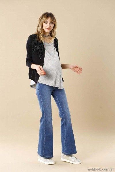 jeans oxford para embarazadas Maa Maternity verano 2018
