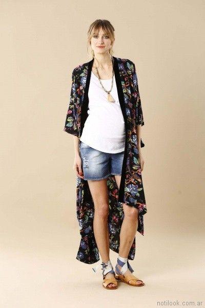 kimono estampado para embarazadas Maa Maternity verano 2018