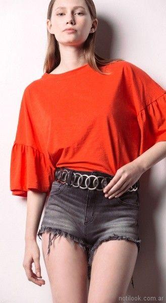 look casual con short rustico Square Jeans verano 2018