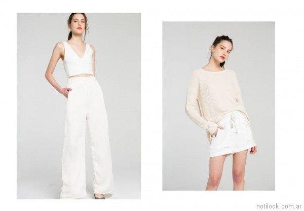 look casual con short y look urbano con pantalon de vestir y top Bled verano 2018
