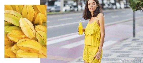 mono corto amarillo Try me primavera verano 2018