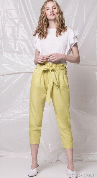 pantalon capri con lazo Square Jeans verano 2018