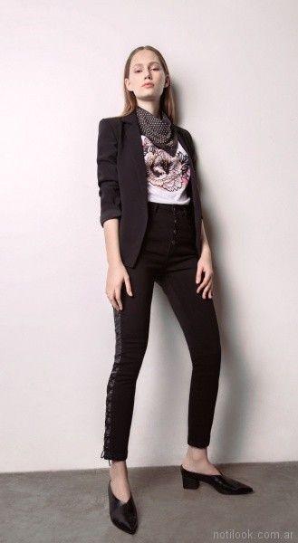pantalon de vestir capri acordonado Square Jeans verano 2018