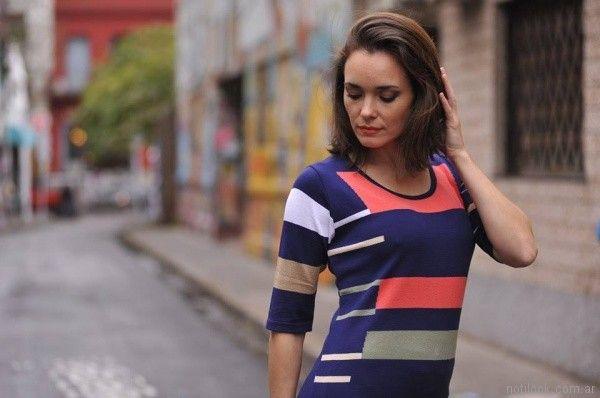 remera mangas cortas tejida estampas geometricas Di Madani Sweaters primavera verano 2017