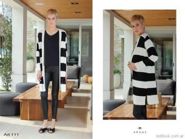 saco de hilo a rayas Arauz Sweaters tejidos primavera verano 2018