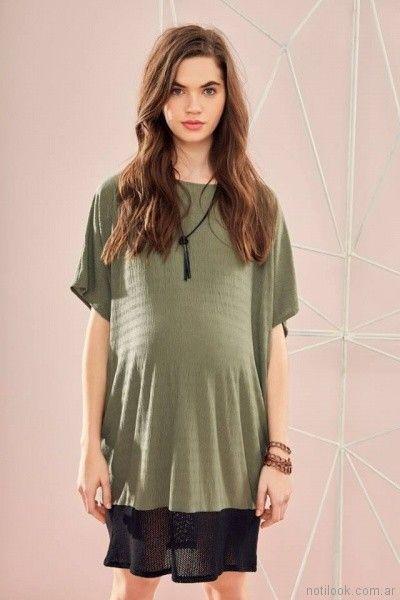 vestido corto para el dia bambula para embarazadas Venga Madre primavera verano 2018