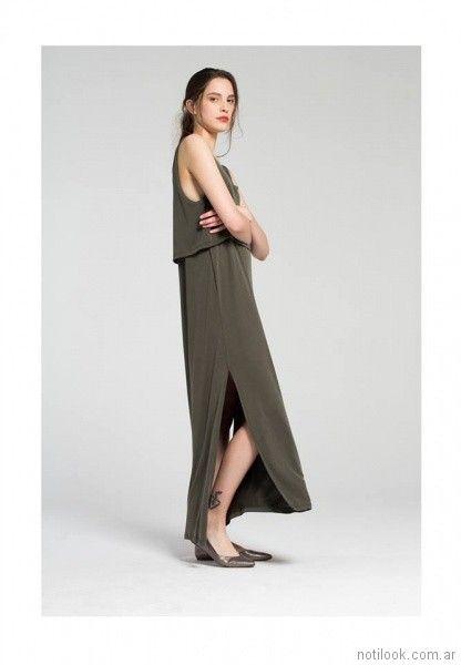 vestido largo para el dia Bled verano 2018