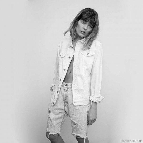 bermuda mujer con roturas Vov Jeans primavera verano 2018