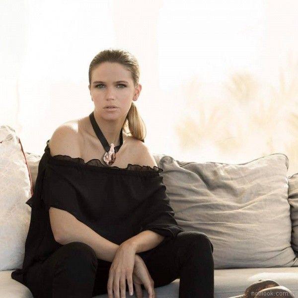 blusa de gasa con hombros descubiertos Marcela Pagella primavera verano 2018