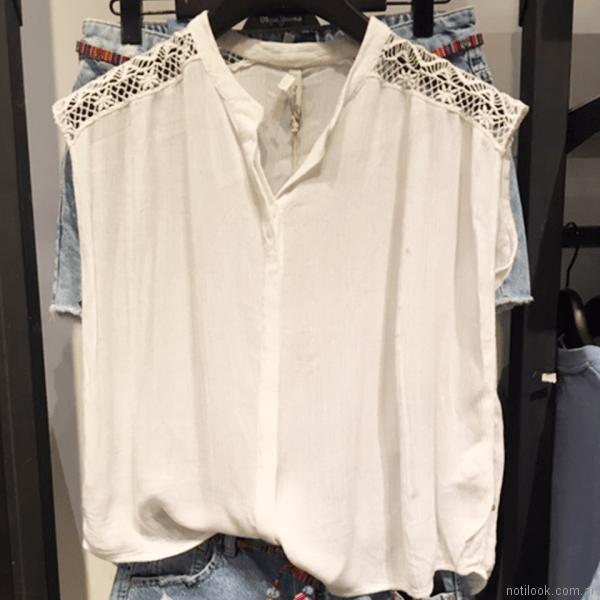 blusas casual blanca Pepe Jeans primavera verano 2018