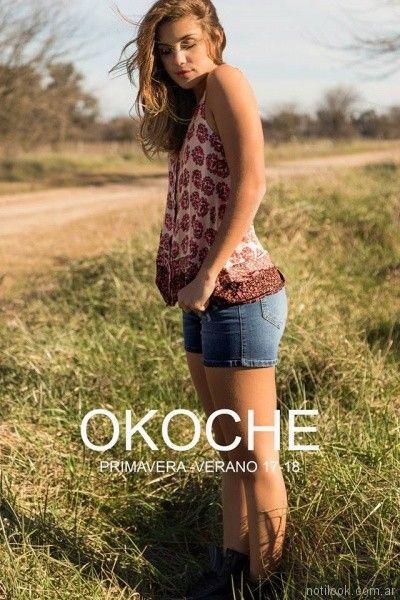 blusas musculosa estampada Okoche primavera verano 2018