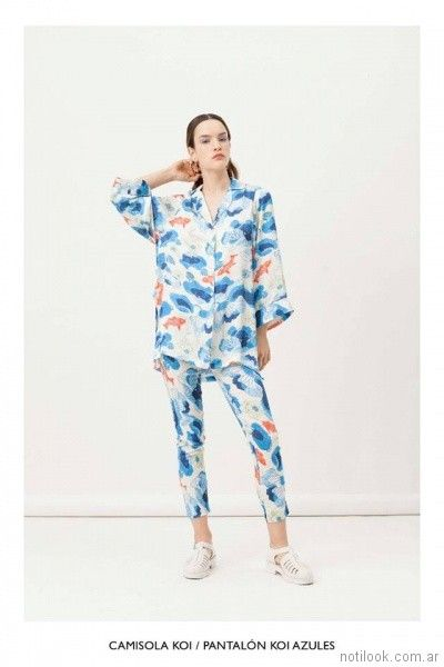 camisa larga estampada de seda vestite y andate primavera verano 2018