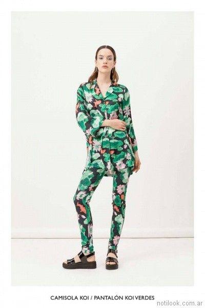 camisa mujer estampada vestite y andate primavera verano 2018