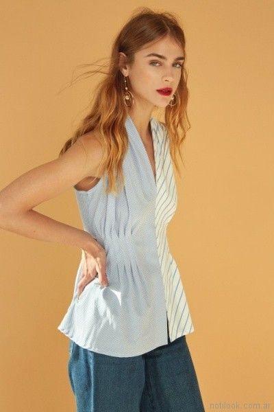 camisa musculosa de lino entallada Edel erra verano 2018