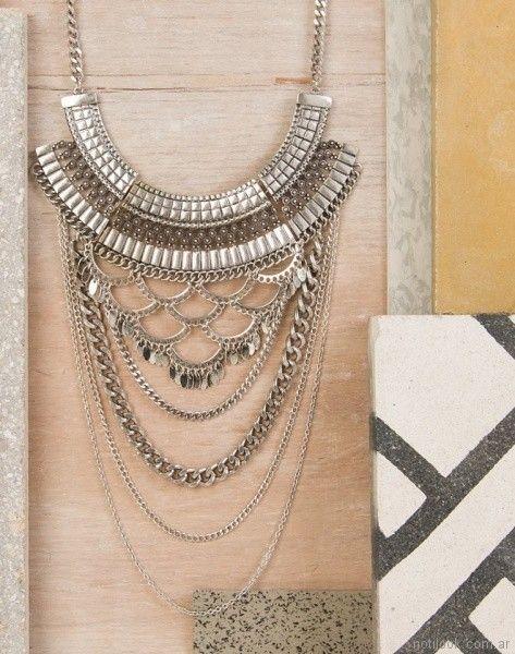 collar cadenas combinadas Isadora verano 2018