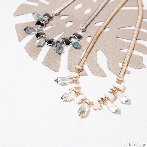 collar con piedras cristales Isadora verano 2018