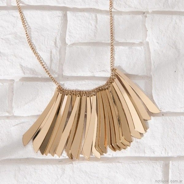 collar dorado Isadora verano 2018