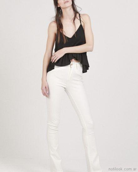 jeans blanco Oassian primavera verano 2018