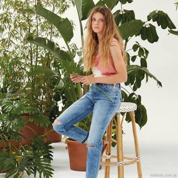 jeans rusticos mujer Pepe Jeans primavera verano 2018