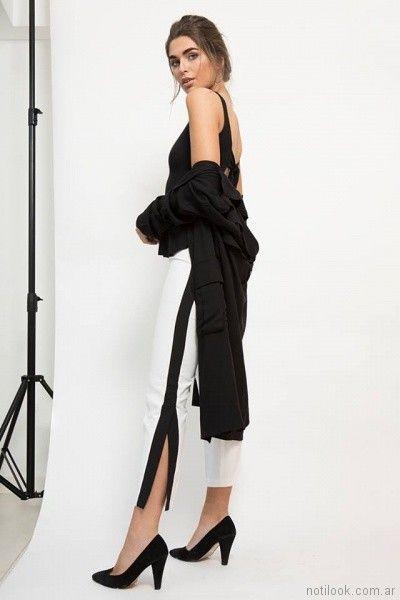 pantalon capri con tajo y guarda lateral Zulas primavera verano 2018