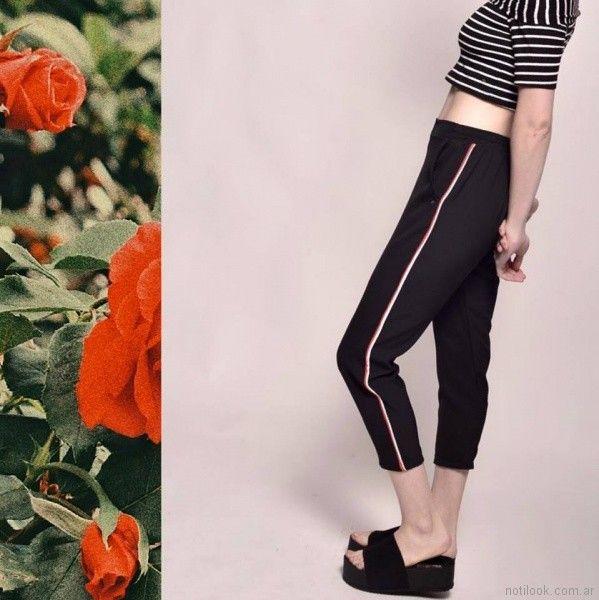 pantalon sport con top a rayas Clan Issime verano 2018