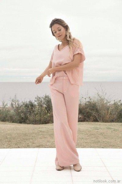 pantalon y blusa de lino Uvha verano 2018