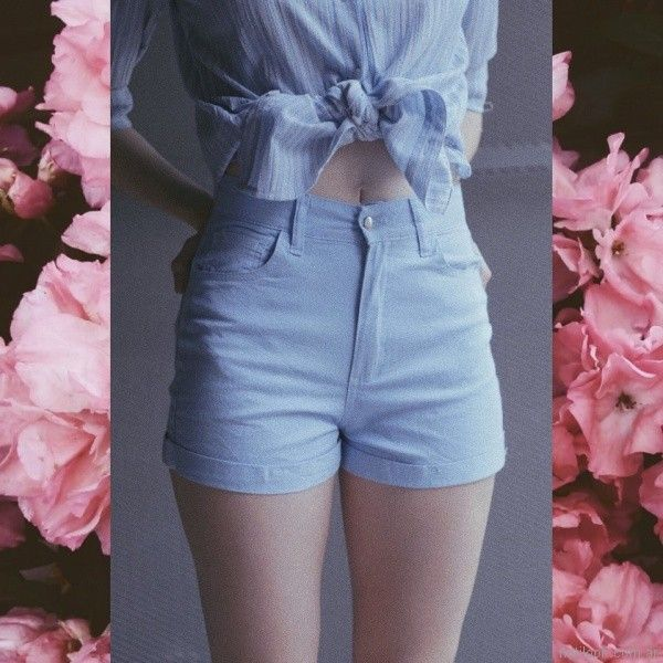 short de jeans y camisa a rayas Clan Issime verano 2018
