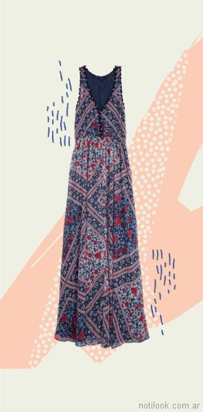 vestidos largos para el dia estampados Pepe Jeans primavera verano 2018