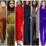 Colores de moda otoño invierno 2018