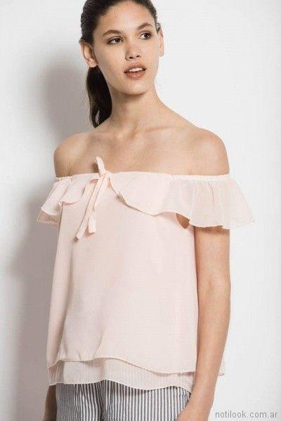 blusa rosa palido Sans Doute verano 2018