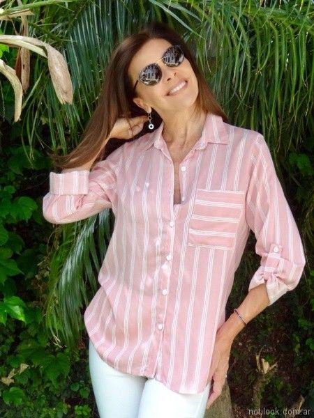 camisas a rayas mujer Fabita verano 2018