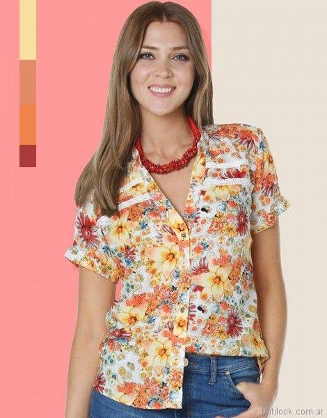 camisas estampadas mujer Anna Rossatti verano 2018
